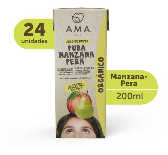 Ama Jugo Manzana Pera Orgánico 24x200cc
