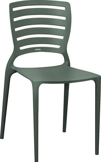 Cadeira Sofia Encosto Vazado Hz Grafite