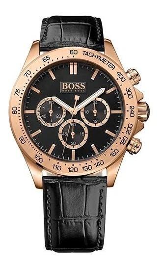 Relógio Hugo Boss Cronógraph Masculino Couro-1513179 Origina