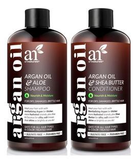 Art Natural Organic Moroccan Argan Oil Shampoo Y Conditioner