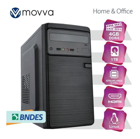 Computador Iron Athlon 240ge 3.5ghz 4gb Ddr4 Hd 1tb Hdmi/vga
