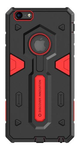 Imagen 1 de 6 de Carcasa Fuerte Nillkin Defender Ii iPhone 6/6s Plus, Rojo
