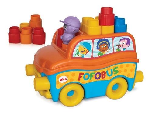 Ônibus Fofobus + Fofo Bloco De Montar Primeira Infância Elka