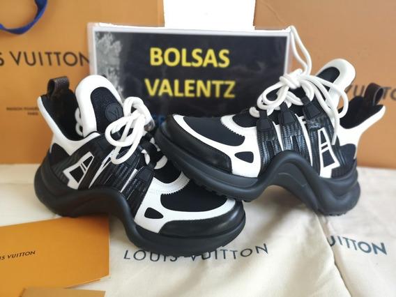 Tenis Louis Vuitton Archlight Negro Y Blanco Caja Factura Lv