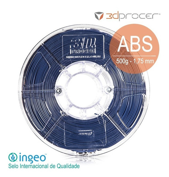Filamento Abs Mg94 3d Procer 1,75mm 500g - 30 Cores