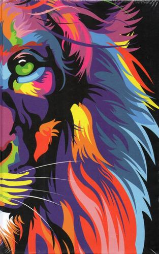 Bíblia Nvt Lion Color - Letra Grande - Borda Colorida
