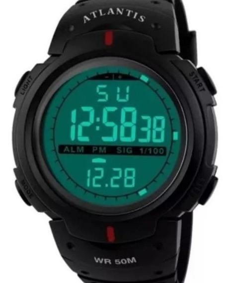 Relógio Digital Sport Atlantis Militar Shock Prova D