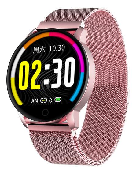 Reloj Inteligente Newwear Q20 Hd De Borde A Borde, Frecuenci