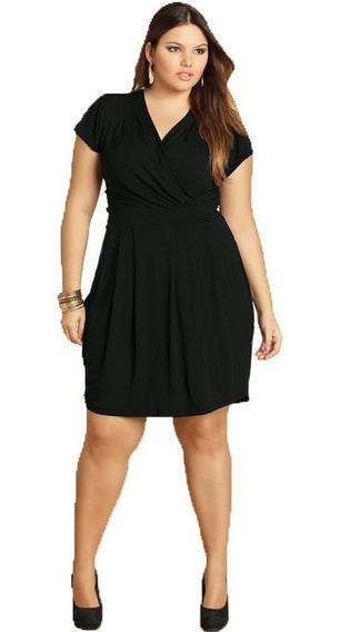 Vestido Plus Size Preto Feminino Soltinho Roupas Femininas