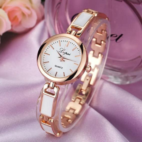 Lindo Relógio Femino Bracelete Promoção Barato
