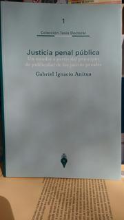 Gabriel I. Anitua / La Justicia Penal Pública - Tesis -