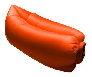 Sofa Inflable Portatil Intense Device Naranja