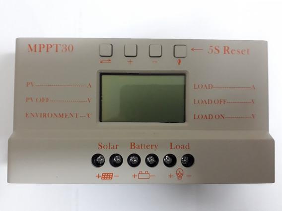 Controlador Regulador De Carga De Painel Solar Mppt30 Novo