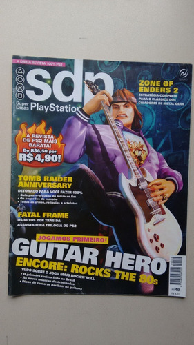 Revista Dicas Playstation 49 Tomb Raider Guitar Hero W093