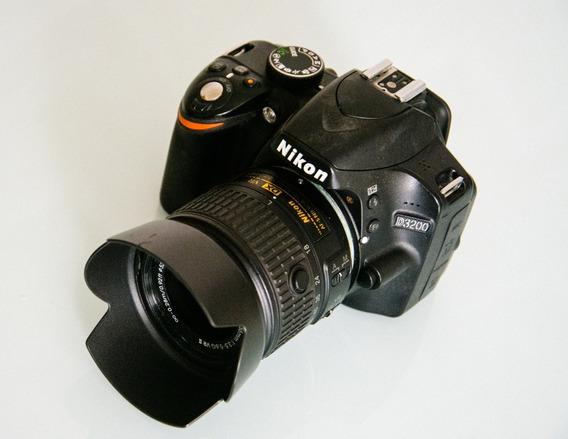 Câmera Nikon D3200 + Lente 18-55 Mm F/3.5-5.6 Vr Gii