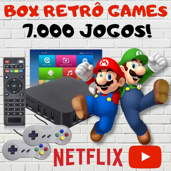 Super Game Box - Video Game Retro C/7000 Jogos Antigos 64gb