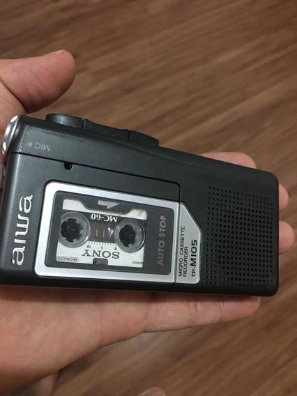 Gravador Aiwa Tp-mi05 Micro Cassete!(ñ Sony,philips)