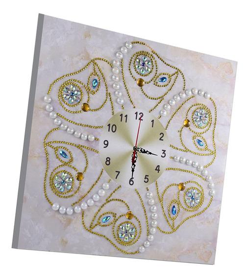 Relógio 5d Diamante Bordado Pintura Especial Imitação De