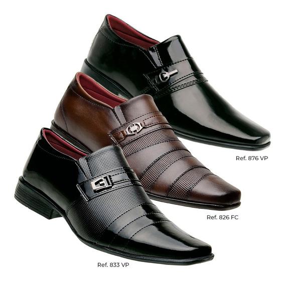 Kit Moda Social Evangelico 3 Pares De Sapato Masculino