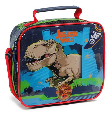 Lancheira Infantil Térmica Soft Jurassic World Dinossauro