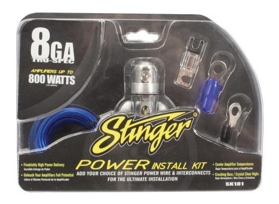 Kit De Instalación Stinger Sk181 Calibre 8 1000 Watts 100 A