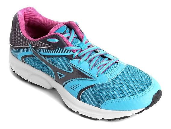 Tênis Mizuno Strike Corrida Running Azul Rosa Original