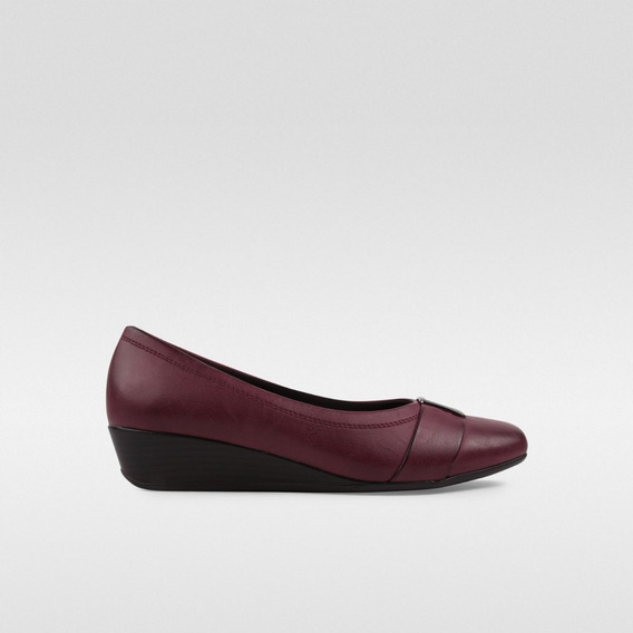 Zapato Cuña Para Dama Dorothy Gaynor Guinda