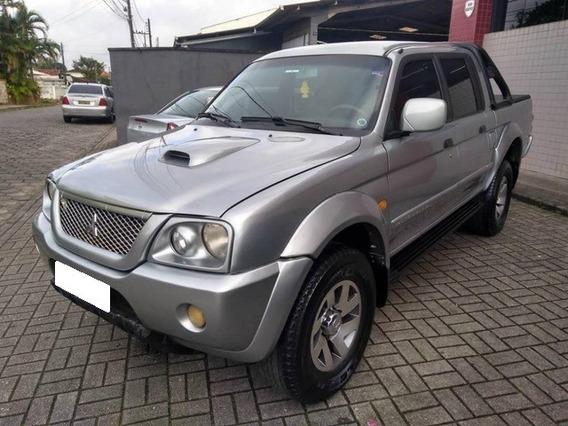 Mitsubishi L200 2.5 Gls Prata Cd 4x4 Diesel 4p Aut. 2004