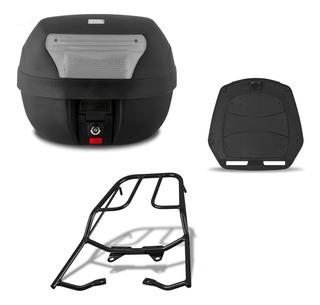Bau Moto Pro Tork 28 Litros + Suporte Fan 125/150 2014/2015