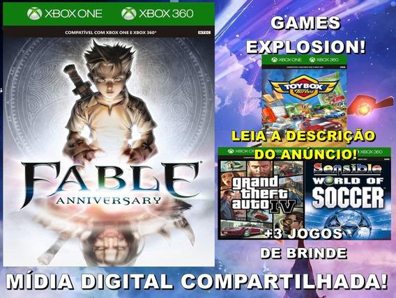 Fable Anniversary Xbox 360/ One +3 Jogos - Mídia Digital