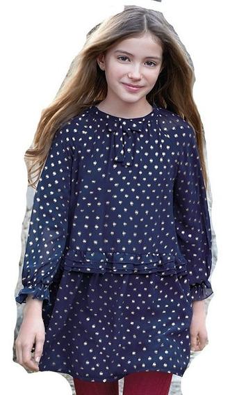 Vestido De Niña Mayoral Azul Marino