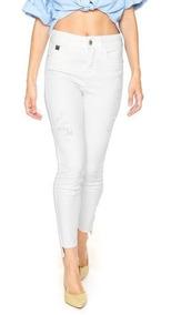 Calça Skinny Sarja Branca Colcci