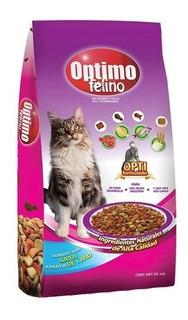 Alimento Optimo Felino 20kg + 1.5kg De Regalo.