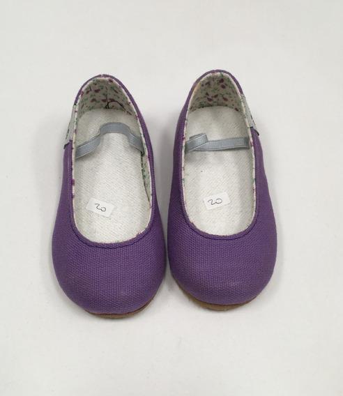 Guillerminas Niñas Violeta Con Suela De Goma T. 20