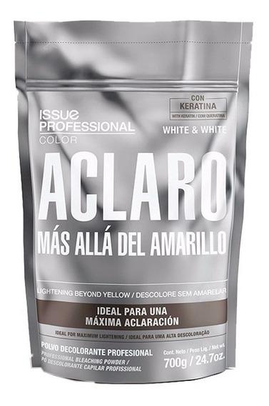 6 Polvos Decolorantes Issue Aclaro White & White X700gr