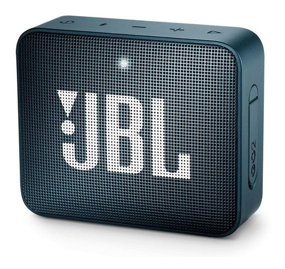 Caixa De Som Jbl Go2 Portátil 3w Navy Bluetooth - Original