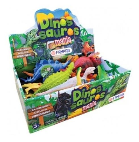 Imagem 1 de 1 de Bonecos Miniaturas Dinossauros Mania Sortidos Dp C/12