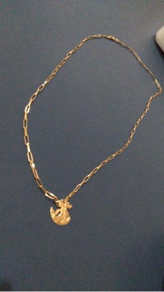 Cordão De Ouro Com Pingente Sj