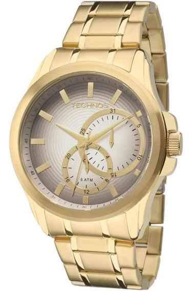 Relógio Technos Masculino Multifunção Grande 6p22ac/4c