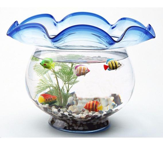 4 Peixe Artificial Flutuante Decorativo Aquário Ornamento