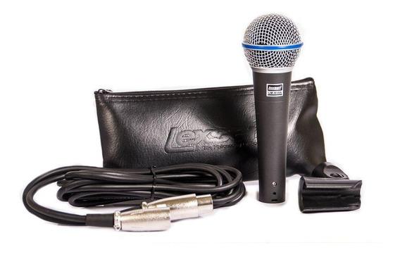 Microfone Profissional Com Fio Lexsen Lm-b58a Supercardióide