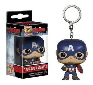 Llavero Funko Pop Pocket Capitan America