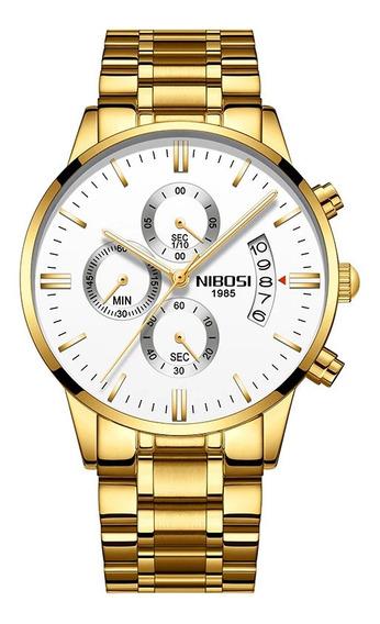 Relógio Masculino Nibosi 2309 Original 100% Funcional Nf-e