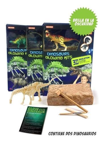 Kit Excavación Grande Dinosaurios Brilla En La Oscuridad Edu