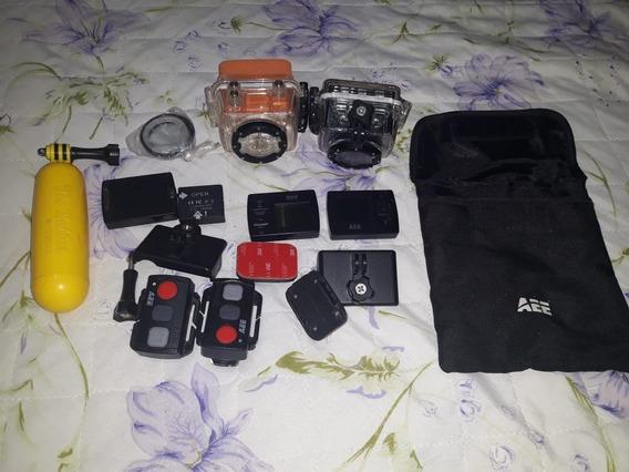 Câmera Aee Xtrax Sd20 1080p Com Varios Acessórios De Brinde