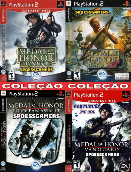 Medal Of Honor Ps2 Coleção (4 Dvds) Patch Pague 3