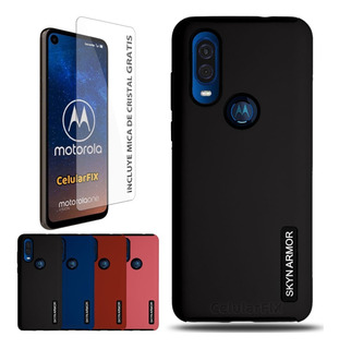 Funda Motorola One Vision, New Case Skyn Armor + Mica