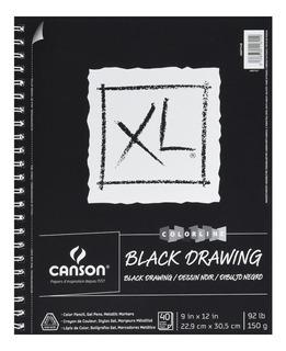 Cuaderno Para Dibujo Hojas En Negro Canson Xl 22.9 X 30.5 Cm