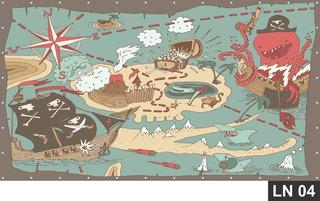Painel De Festa Aniversário Mapa Do Tesouro 2,00x1,00m