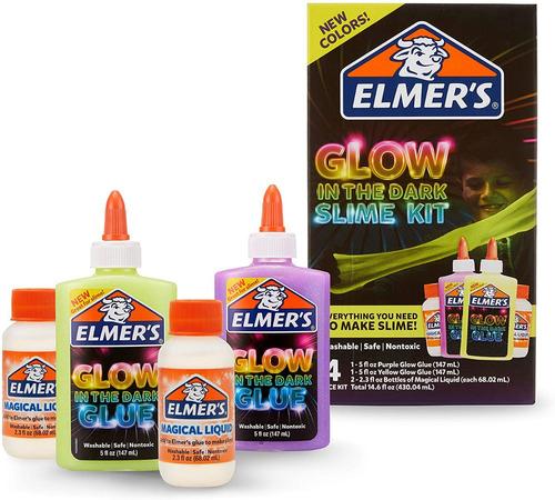 Imagen 1 de 3 de Super Kit Slime Brilla En La Oscuridad Elmer's Accesorios